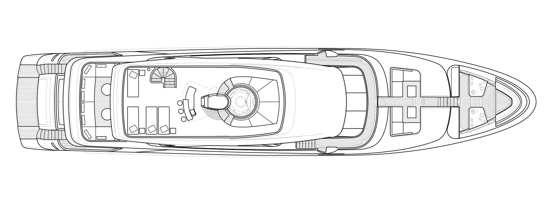 Sanlorenzo SD126 Flybridge Option A