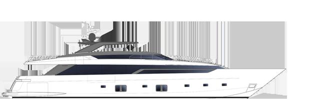 Sanlorenzo SL120A side profile
