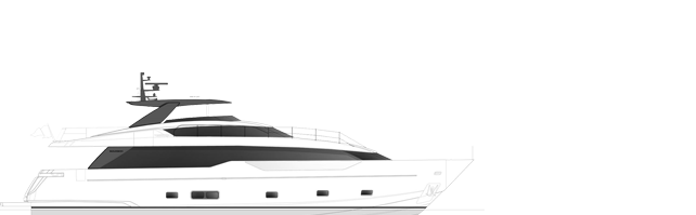 Sanlorenzo SL90a side profile